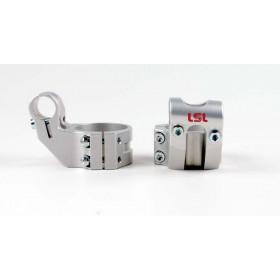 Bracelets LSL Offset High Ø39mm hauteur +37mm/déport +25mm/5° argent