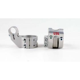 Bracelets LSL Offset High Ø54mm hauteur +37mm/déport +25mm/5° argent