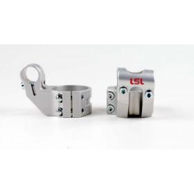 Bracelets LSL Offset High Ø53mm hauteur +37mm/déport +25mm/5° argent