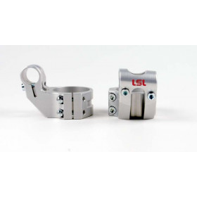 Bracelets LSL Offset High Ø52mm hauteur +37mm/déport +25mm/5° argent