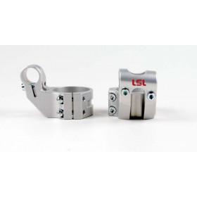 Bracelets LSL Offset High Ø51mm hauteur +37mm/déport +25mm/5° argent