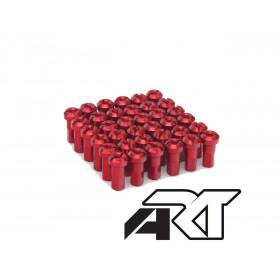 Kit têtes de rayon universel anodisées A.R.T rouge