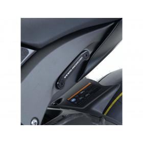 Cache-orifice R&G RACING pour repose-pied arrière-gauche alu noir Kawasaki ZX-10R