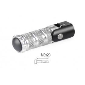 Repose-pieds repliables LIGHTECH M8x20 tête cylindrique argent