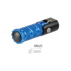 Repose-pieds repliables LIGHTECH M8x20 tête cylindrique cobalt