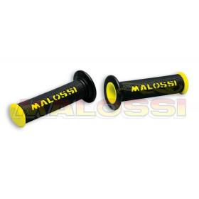 Revêtements de poignée Malossi Cup noirs/jaunes sans découpe