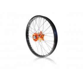 Roue avant complète ART 21x1.60 jante noire/moyeu orange KTM SX/SX-F