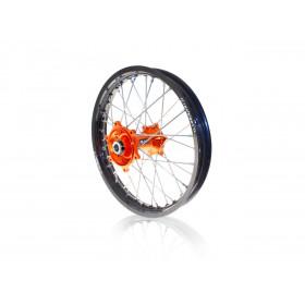 Roue arrière complète ART 19x2,15 jante noire/moyeu orange KTM SX/SX-F