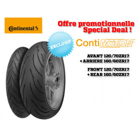 Train de pneus CONTINENTAL ContiMotion (120/70 ZR 17 + 160/60 ZR 17)