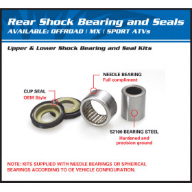 Kit roulements d'amortisseur inférieur ALL BALLS Suzuki DR650SE