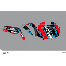 Kit déco KUTVEK Rotor rouge Polaris RZR 900 S
