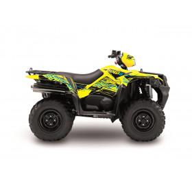Kit déco KUTVEK Rotor jaune Suzuki King Quad