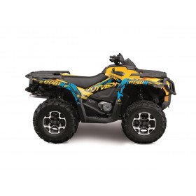 Kit déco KUTVEK Rotor jaune Can-Am Outlander Max test