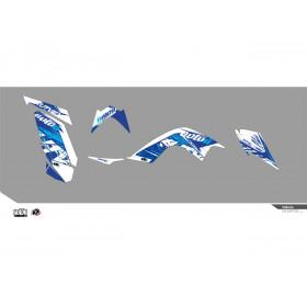 Kit déco KUTVEK Rotor bleu Yamaha Raptor 700