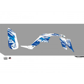 Kit déco KUTVEK Rotor bleu Yamaha Raptor 350