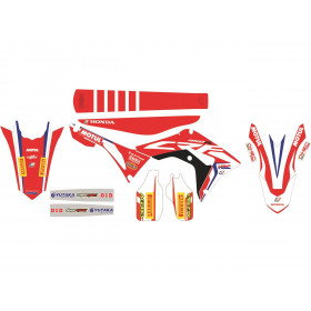 Kit déco de cache radiateur BLACKBIRD Replica Team HRC 2017 Honda CRF450R