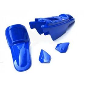 Kit plastiques ART couleur origine bleu + kit déco KUTVEK Racer bleu Yamaha PW50