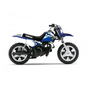 Kit plastiques ART blanc + kit déco KUTVEK Racer bleu Yamaha PW50