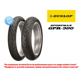 Train de pneus Sport-Touring DUNLOP Sportmax GPR300 (120/70ZR17 + 180/55ZR17)