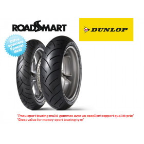 Train de pneus Sport-Touring DUNLOP ROADSMART (120/60ZR17 + 160/60ZR17)
