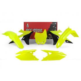 Kit plastique RACETECH jaune fluo/noir Suzuki RM-Z450