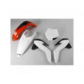 Kit plastique UFO origine (2017) orange/blanc/noir KTM SX85