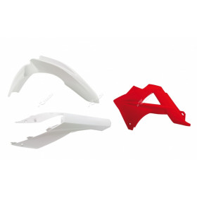 Kit plastique RACETECH couleur origine blanc/rouge Gas Gas EC125/250/300/450 FSR