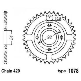 Couronne acier B1 47 dents chaine 420 Yamaha TZR50 - MBK X-Power