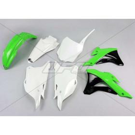 Kit plastique UFO couleur origine (2014) vert/blanc/noir Kawasaki KX85