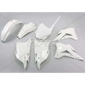 Kit plastique UFO blanc Kawasaki KX85