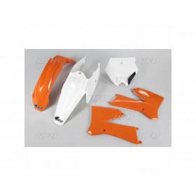 Kit plastique UFO couleur origine orange/blanc KTM SX85