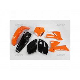 Kit plastique UFO couleur origine orange/noir KTM