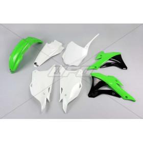 Kit plastique UFO couleur origine (2016) vert/noir/blanc Kawasaki KX85