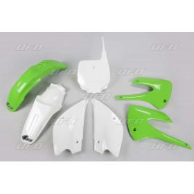 Kit plastique UFO couleur origine (2013) restylé vert/blanc Kawasaki KX85