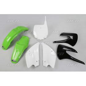 Kit plastique UFO couleur origine vert/noir/blanc Kawasaki KX85