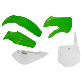 Kit plastique RACETECH couleur origine vert/blanc Kawasaki KX65