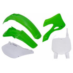 Kit plastique RACETECH couleur origine vert/blanc Kawasaki KX125/250