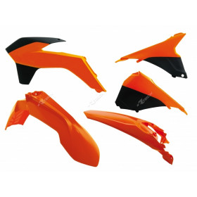 Kit plastique RACETECH couleur origine (2014) orange/noir KTM