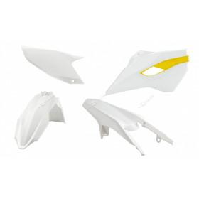 Kit plastique RACETECH couleur origine (2015) blanc/jaune Husqvarna