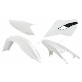 Kit plastique RACETECH couleur origine blanc Husqvarna TE/FE