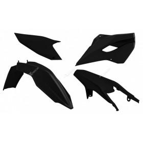 Kit plastique RACETECH noir Husqvarna TE/FE