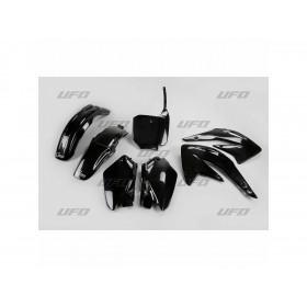 Kit plastique UFO noir Honda CR85R/85RB