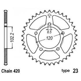 Couronne acier B1 47 dents chaine 420 Aprilia RS50