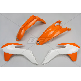 Kit plastique UFO couleur origine (15-16) orange/blanc KTM