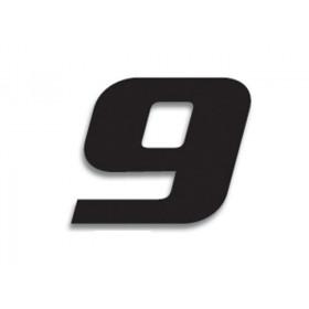 Numéro de course 9 BLACKBIRD 20x25cm noir