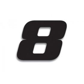 Numéro de course 8 BLACKBIRD 20x25cm noir
