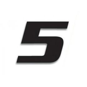 Numéro de course 5 BLACKBIRD 20x25cm noir