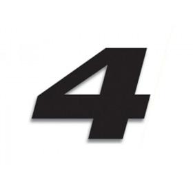 Numéro de course 4 BLACKBIRD 20x25cm noir