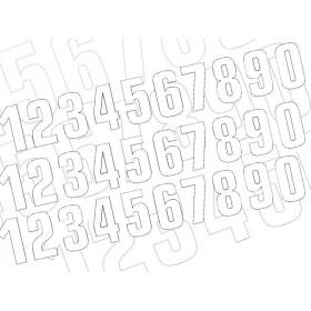 Numéro de course 0 BLACKBIRD 13x7cm blanc