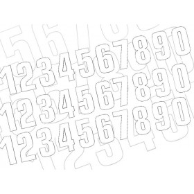 Numéro de course 3 BLACKBIRD 16x7,5cm blanc